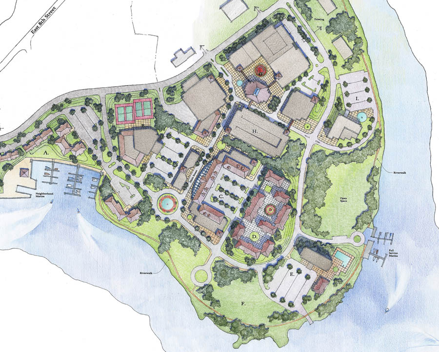 ILLUSTRATION STYLES Site Plan Rendered In Color Pencils Masterplan