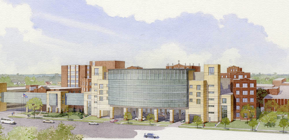 architectural illustration - Medical Center aerial