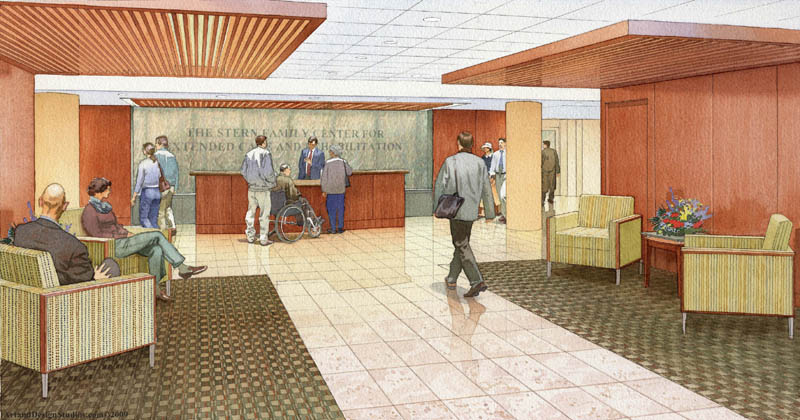 architectural illustration - Extended Care Center
