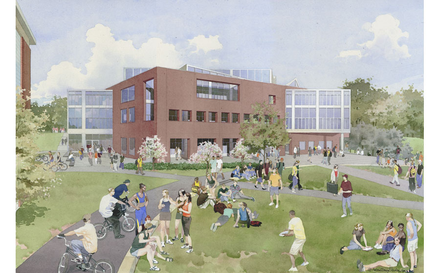 architectural illustration - Cornell University - architectural - rendering
