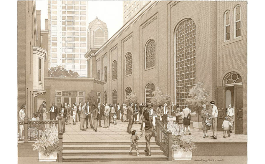 Rendering of the church deck in Philadelphia